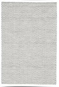 Kelim Honey Comb - Cream/Musta Matto 120X180 Moderni Käsinkudottu Vaaleanharmaa/Beige (Villa, Intia)