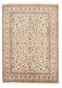 Kashmir 100% Silkki Matto 158X219 Itämainen Käsinsolmittu Ruskea/Vaaleanruskea (Silkki, Intia)