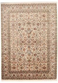 Kashmir 100% Silkki Matto 157X216 Itämainen Käsinsolmittu Ruskea/Beige (Silkki, Intia)