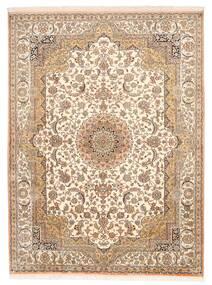 Kashmir 100% Silkki Matto 157X211 Itämainen Käsinsolmittu Ruskea/Beige (Silkki, Intia)