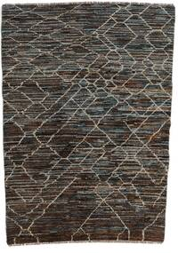 Moroccan Berber - Afghanistan Matto 124X170 Moderni Käsinsolmittu Tummanharmaa/Musta (Villa, Afganistan)