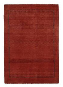 Gabbeh Loribaft Matto 89X127 Moderni Käsinsolmittu Tummanpunainen/Musta (Villa, Intia)