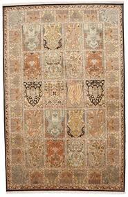 Kashmir 100% Silkki Matto 172X266 Itämainen Käsinsolmittu Ruskea/Beige (Silkki, Intia)