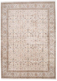 Kashmir 100% Silkki Matto 312X425 Itämainen Käsinsolmittu Vaaleanharmaa/Valkoinen/Creme Isot (Silkki, Intia)