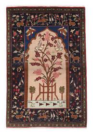 Sarough Matto 107X158 Itämainen Käsinsolmittu Tummanruskea/Vaaleanruskea (Villa, Persia/Iran)