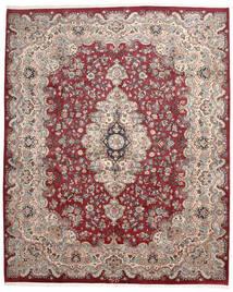 Mashad Matto 306X375 Itämainen Käsinsolmittu Vaaleanharmaa/Tummanpunainen Isot (Villa, Persia/Iran)