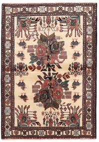 Afshar/Sirjan Matto 102X144 Itämainen Käsinsolmittu Beige/Musta (Villa, Persia/Iran)