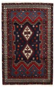 Afshar/Sirjan Matto 112X177 Itämainen Käsinsolmittu Tummanpunainen/Tummanharmaa (Villa, Persia/Iran)