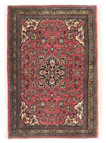 Ghom Kork/Silkki Matto 58X85 Itämainen Käsinsolmittu Valkoinen/Creme/Musta (Villa/Silkki, Persia/Iran)