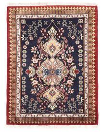 Kashmar Matto 63X84 Itämainen Käsinsolmittu Tummanvioletti/Tummanpunainen (Villa, Persia/Iran)