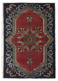 Keshan Matto 67X95 Itämainen Käsinsolmittu Musta/Tummanpunainen/Tummanharmaa (Villa, Persia/Iran)