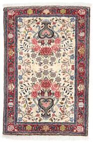 Sarough Matto 56X84 Itämainen Käsinsolmittu Beige/Vaaleanharmaa (Villa, Persia/Iran)