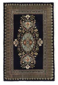 Kashmar Matto 58X89 Itämainen Käsinsolmittu Musta/Tummanharmaa (Villa, Persia/Iran)