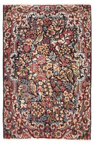 Kerman Matto 60X92 Itämainen Käsinsolmittu Tummanruskea/Beige (Villa, Persia/Iran)