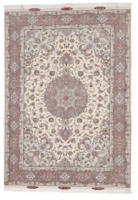 Tabriz 60 Raj Silkkiloimi Matto 167X244 Itämainen Käsinsolmittu Vaaleanharmaa/Beige (Villa/Silkki, Persia/Iran)
