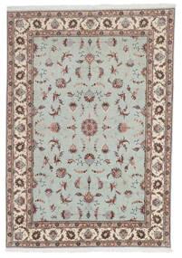 Tabriz 60 Raj Silkkiloimi Matto 168X241 Itämainen Käsinsolmittu Vaaleanharmaa/Vaaleanruskea (Villa/Silkki, Persia/Iran)