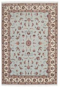 Tabriz 60 Raj Silkkiloimi Matto 168X241 Itämainen Käsinsolmittu Vaaleanharmaa/Beige (Villa/Silkki, Persia/Iran)
