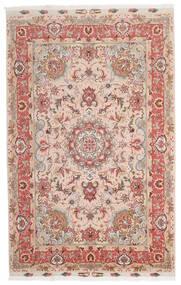 Tabriz 60 Raj Silkkiloimi Matto 153X240 Itämainen Käsinsolmittu Tummanpunainen/Tummanruskea (Villa/Silkki, Persia/Iran)