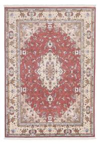 Tabriz 60 Raj Silkkiloimi Matto 166X238 Itämainen Käsinsolmittu Valkoinen/Creme/Vaaleanharmaa (Villa/Silkki, Persia/Iran)
