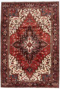Heriz Matto 205X298 Itämainen Käsinsolmittu Tummanpunainen/Tummanruskea (Villa, Persia/Iran)