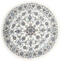 Nain Matto Ø 150 Itämainen Käsinsolmittu Pyöreä Valkoinen/Creme/Beige (Villa, Persia/Iran)