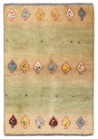 Gabbeh Persia Matto 60X88 Moderni Käsinsolmittu Vaaleanvihreä/Tummanbeige (Villa, Persia/Iran)