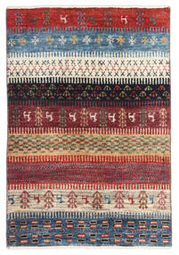 Gabbeh Persia Matto 60X89 Moderni Käsinsolmittu Tummanpunainen/Sininen (Villa, Persia/Iran)