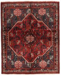 Shiraz Matto 160X196 Itämainen Käsinsolmittu Tummanpunainen/Tummanruskea (Villa, Persia/Iran)