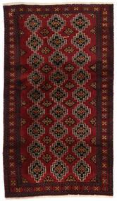 Beluch Allekirjoitettu: Reza Mehri Matto 96X177 Itämainen Käsinsolmittu Tummanpunainen (Villa, Persia/Iran)