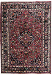 Mashad Matto 205X292 Itämainen Käsinsolmittu Musta/Tummanruskea (Villa, Persia/Iran)