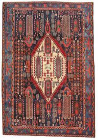 Afshar Matto 204X297 Itämainen Käsinsolmittu Tummanpunainen/Ruoste (Villa, Persia/Iran)