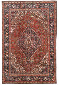Tabriz Matto 198X293 Itämainen Käsinsolmittu Tummanruskea/Tummanpunainen (Villa, Persia/Iran)