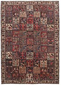 Bakhtiar Matto 220X310 Itämainen Käsinsolmittu Tummanpunainen/Musta (Villa, Persia/Iran)