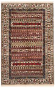 Turkaman Matto 162X246 Itämainen Käsinsolmittu Tummanruskea/Vaaleanruskea (Villa, Persia/Iran)