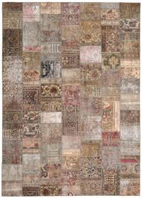Patchwork - Persien/Iran Matto 254X351 Moderni Käsinsolmittu Vaaleanharmaa/Ruskea Isot (Villa, Persia/Iran)