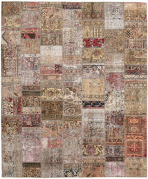 Patchwork - Persien/Iran Matto 252X303 Moderni Käsinsolmittu Vaaleanharmaa/Ruskea Isot (Villa, Persia/Iran)