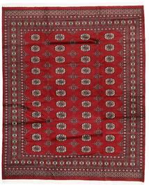 Pakistan Bokhara 2Ply Matto 199X242 Itämainen Käsinsolmittu Tummanpunainen/Punainen (Villa, Pakistan)