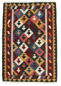 Kelim Matto 100X150 Itämainen Käsinkudottu Tummanvihreä/Tummanpunainen (Villa, Persia/Iran)