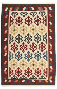 Kelim Matto 100X157 Itämainen Käsinkudottu Beige/Tummanpunainen (Villa, Persia/Iran)