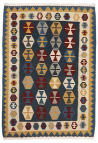 Kelim Matto 104X148 Itämainen Käsinkudottu Tummansininen/Beige (Villa, Persia/Iran)