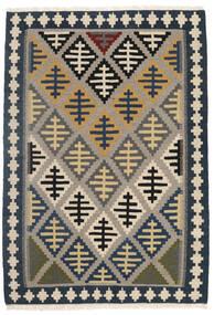Kelim Matto 107X155 Itämainen Käsinkudottu Vaaleanharmaa/Beige/Tummanharmaa (Villa, Persia/Iran)