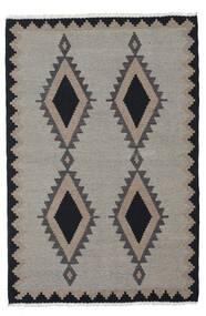 Kelim Matto 100X148 Itämainen Käsinkudottu Vaaleanharmaa/Tummanharmaa (Villa, Persia/Iran)