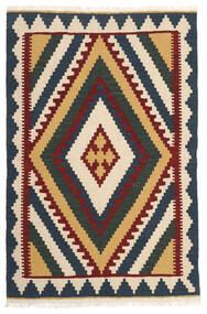 Kelim Matto 102X158 Itämainen Käsinkudottu Tummanharmaa/Beige (Villa, Persia/Iran)