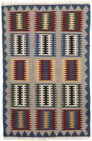 Kelim Matto 97X150 Itämainen Käsinkudottu Tummanharmaa/Vaaleanharmaa (Villa, Persia/Iran)