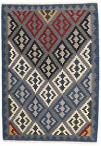 Kelim Matto 107X152 Itämainen Käsinkudottu Tummanharmaa (Villa, Persia/Iran)