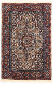 Moud Matto 56X89 Itämainen Käsinsolmittu Tummanpunainen/Vaaleanharmaa (Villa/Silkki, Persia/Iran)