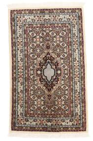 Moud Matto 61X100 Itämainen Käsinsolmittu Beige/Tummanruskea (Villa/Silkki, Persia/Iran)