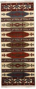 Turkaman Matto 87X210 Itämainen Käsinsolmittu Käytävämatto Tummanruskea/Vaaleanruskea (Villa, Persia/Iran)