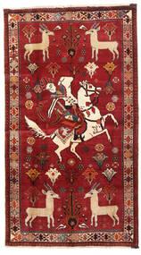 Ghashghai Matto 103X186 Itämainen Käsinsolmittu Tummanpunainen/Ruoste (Villa, Persia/Iran)