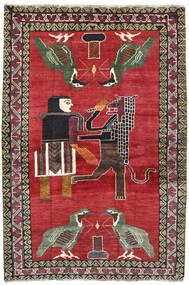 Ghashghai Matto 124X195 Itämainen Käsinsolmittu Punainen/Tummanharmaa (Villa, Persia/Iran)